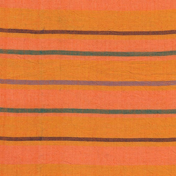 ALTERNATING STRIPE ORANGE  Woven Stripe Kaffe Fassett Sold in 1/2 yard increments