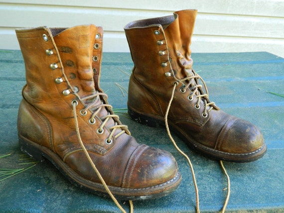 1960's Red Wing Steel Toe Work Boots / Safety
