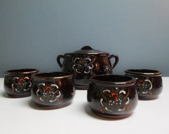 Vintage Royal Sealy Ceramic Japan Soup Tureen Bowls