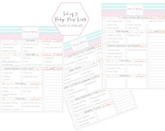 baby prep lists hospital checklist baby room checklist house cleaning and prep checklist - Baby Room Checklist