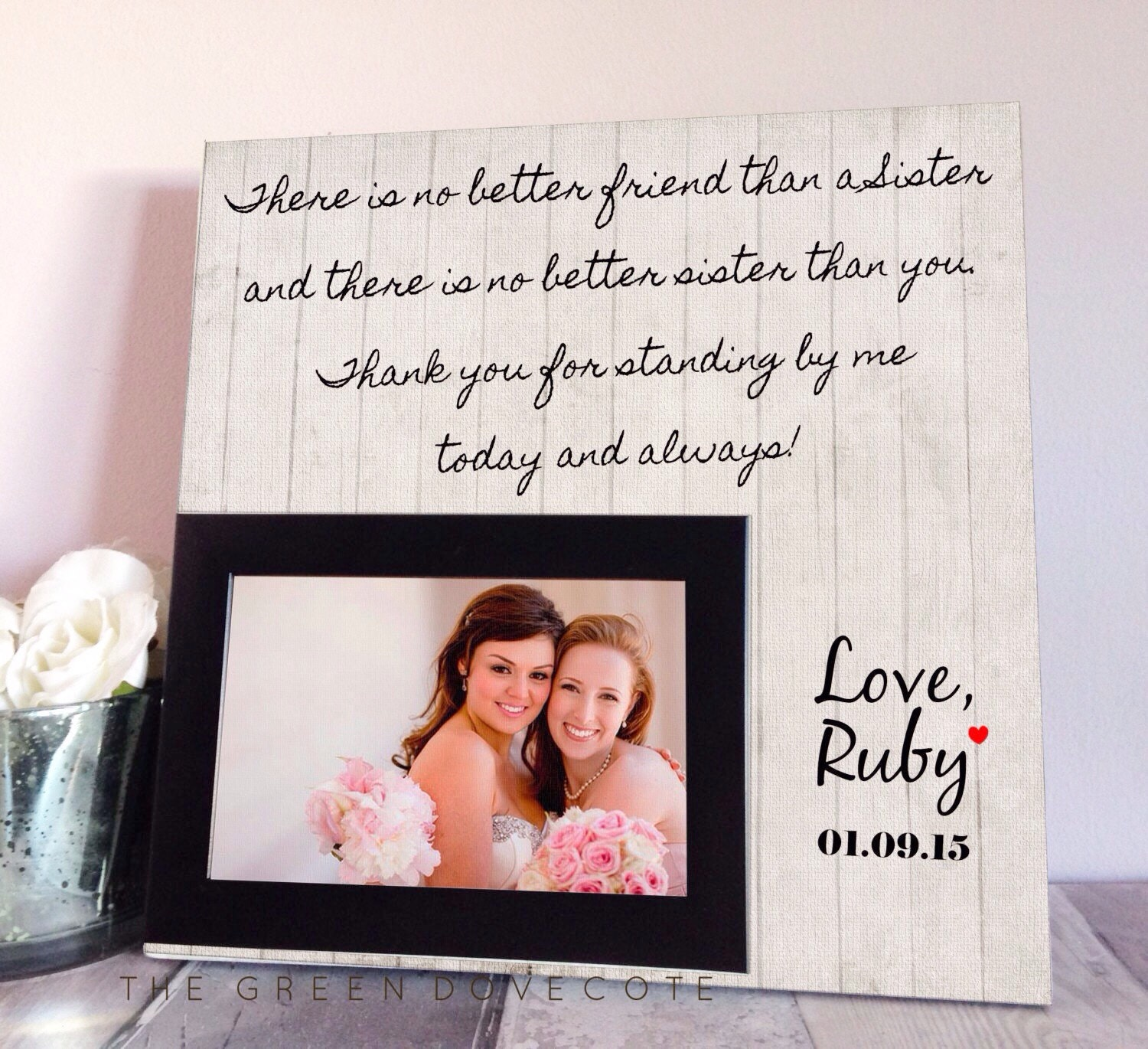 Wedding Gift Ideas For Bride From Sister : Sister Wedding Gift Maid Of Honor Gift Bridesmaid Gift