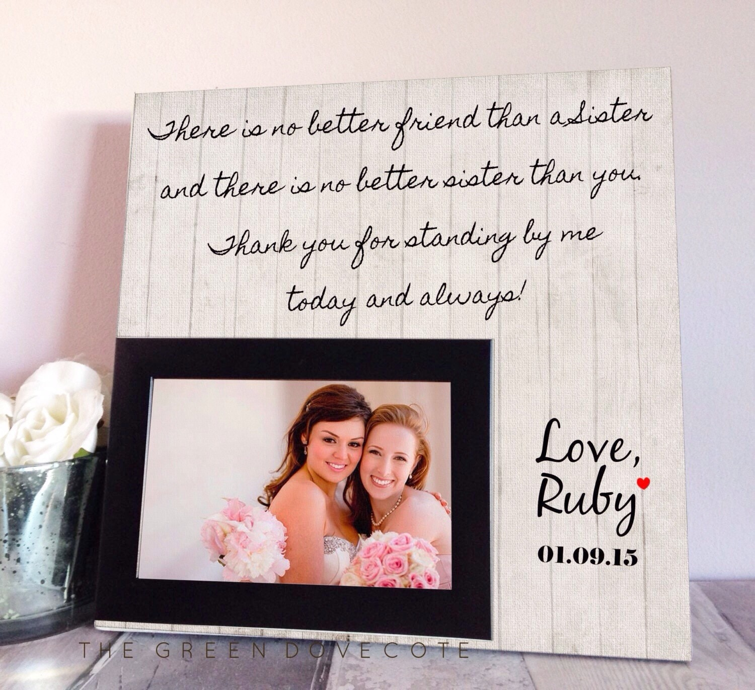 Wedding Gifts Ideas For Sister : Sister Wedding Gift Maid Of Honor Gift Bridesmaid Gift