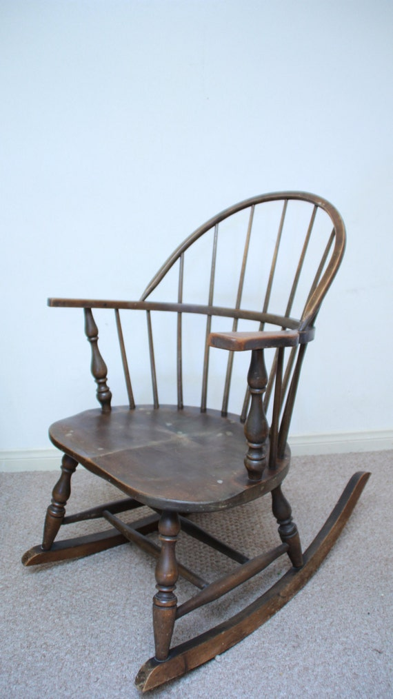Rocking Chair Heywood Wakefield Furniture/ Antique Windsor Chair ...