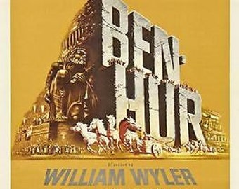 Vintage Ben Hur movie Poster A3 Print