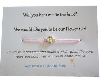 A Bit Krafty, Flower Girl invitation, wish bracelet