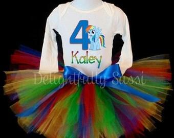 Rainbow Dash Birthday Tutu, Rainbow Dash, Birthday Tutu, Girls Birthday Tutu, Rainbow Tutu