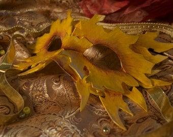 "Draconic Half-Mask - ""Summer Glow"""