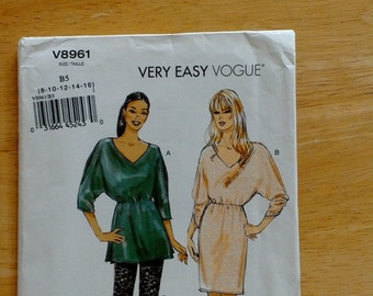 Out of Print Vogue Tunic, Dress and Pants Pattern - V8961 - UNCUT