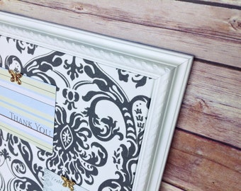 Pin board - fabric covered bulletin board - framed pin board