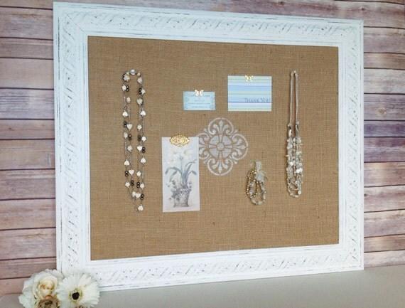 large framed cork bulletin board shabby chic decor fabric. Black Bedroom Furniture Sets. Home Design Ideas