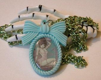 Bride of Frankenstein necklace