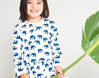 Elephant Long Sleeve Organic Dress
