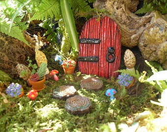 Enchanted Fairy Door Set,Fairy Garden Kit,Fairy Door And Pathway,Fantasy  Fairy