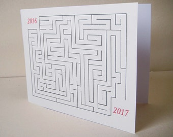 Greeting card new year 2017