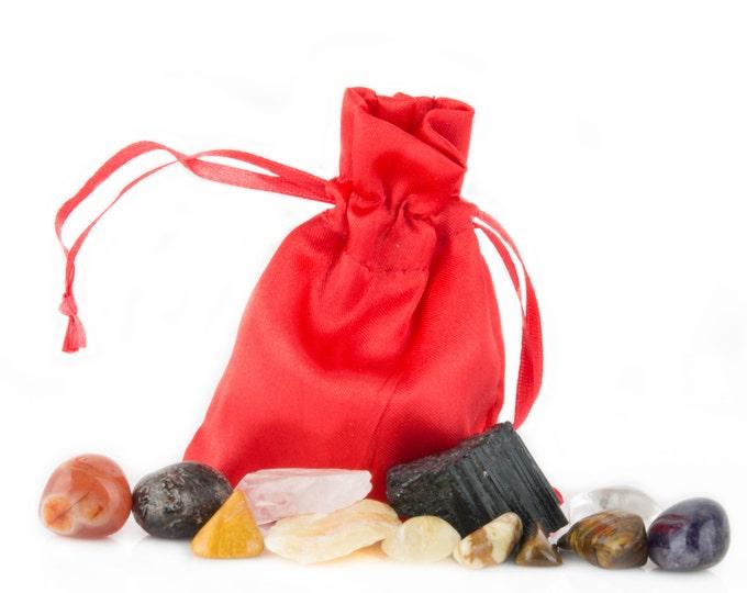 Root Chakra Healing Kit Yoga, Meditation, Crystal Healing, and Reiki