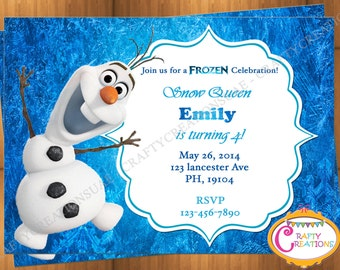 Olaf birthday invite etsy olaf invitation frozen olaf birthday invitation printable frozen invitation disney olaf invite filmwisefo