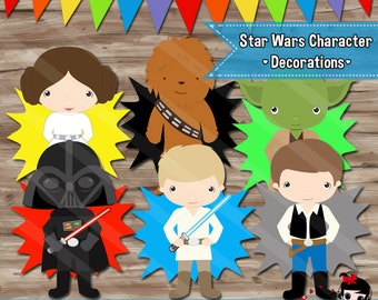 star wars party decorations star wars party supplies star wars party printables digital - Star Wars Decorations