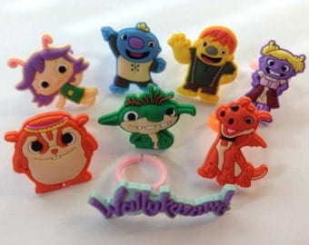 Wallykazam Party Favor Cupcake Toppers Rings