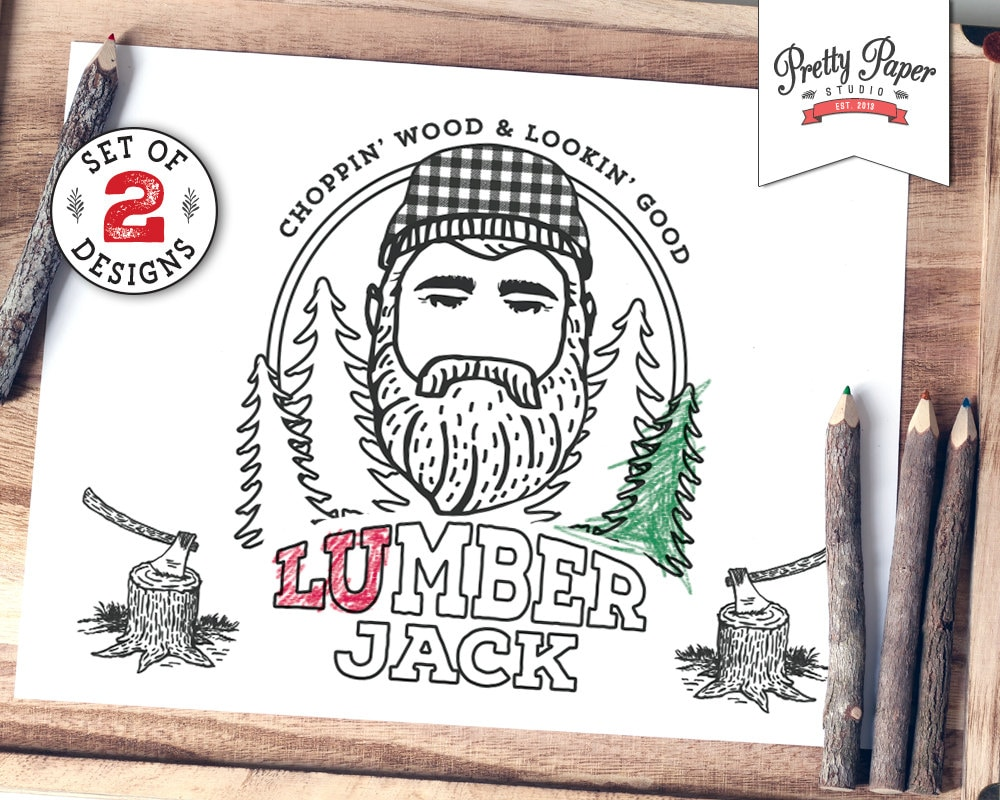 printable lumberjack coloring pages - photo#15