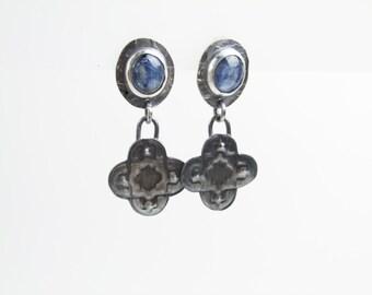 Blue Kyanite in Sterling Earrings ~ Artisan