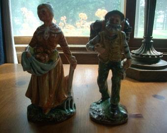 Vintage Old Couple Figurines