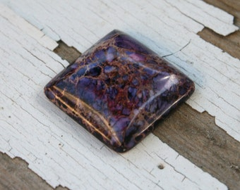 Large Purple Sea Sediment Jasper Square Cabochon - 24x24mm