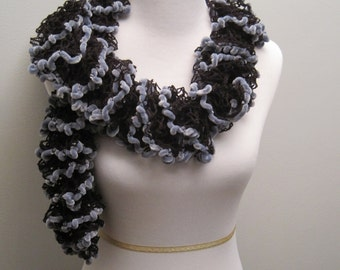 Ruffled Lace Scarf