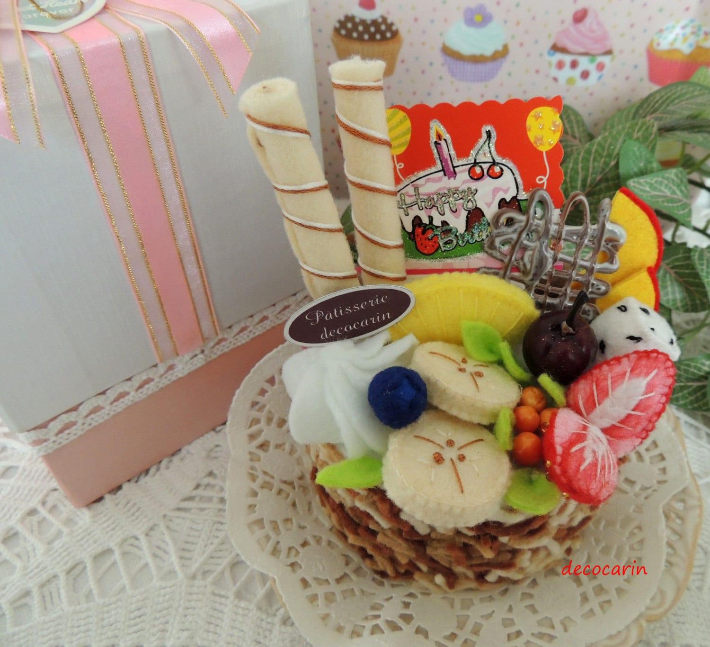 Felt Food Felt Cake Ready Birthday Gift For Her Home By