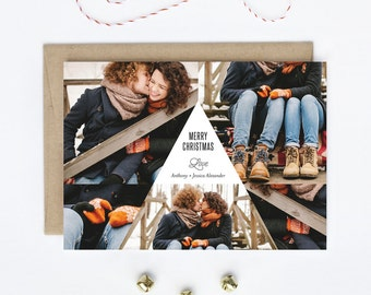 Multi-Photo Holiday Card - Geometric Family