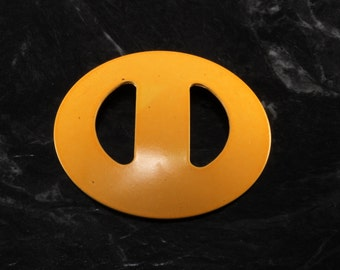 Vintage 60's Nemo Scarf Sash Buckle Round Yellow  Metal  Accessory New Old Stock