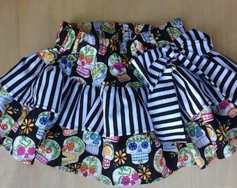 Baby Girl Skirt- Skulls