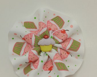 handmade cupcake hair bow
