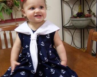 toddlers anchor sailor dress