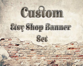 Custom Etsy Banner, Custom Shop Banner Set, OOAK Banner Set, Custom Etsy Shop Cover Set, OOAK Shop Banner, OOAK Etsy Cover Set