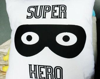 Super hero mask cushion cover.