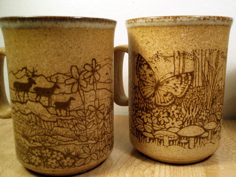 Rare 4 Pc Set Of Dunoon Scotland Stoneware Ceramic Tea Coffee