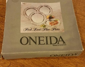 Oneida Park Lane Place Plates Set of 4. 5 1/2 inches