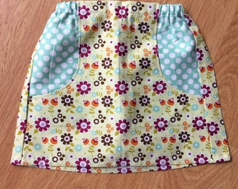 Girls floral print explorer skirt, size 2