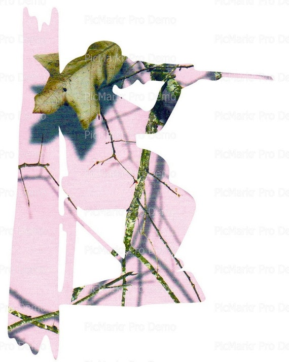 Pink Camo Deer Hunting - Edible Cake and Cupcake Topper For Birthday's and Parties! - D21616