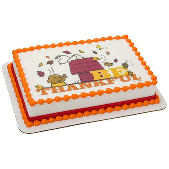Edible Cake Images Thanksgiving : Peanuts Snoopy Thanksgiving Licensed Edible by ArtofEricGunty