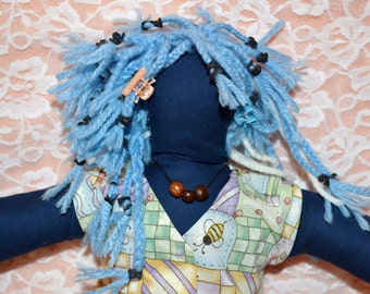 Blue Cloth Doll