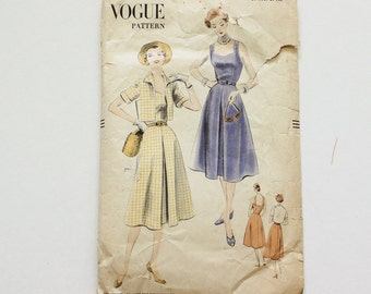 Vogue 7564 · sz 18, bust 36 · 1950s Womens Sundress Pattern