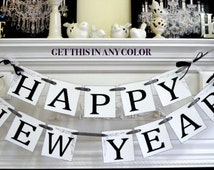 Happy New Year Banner, New Year Garland, New Year decorations, New Year photo prop