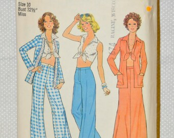 Simplicity Pattern - Midriff Top, Wide-Leg Pants, etc.