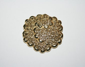 Vintage Gold Tone Flower Brooch / Pin 2.25 inches |