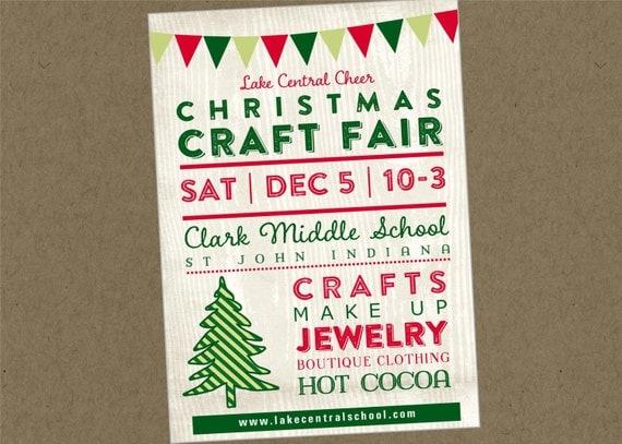 Printable flyer chrismas holiday fair fest bazaar craft show for Vendors wanted for craft shows 2017