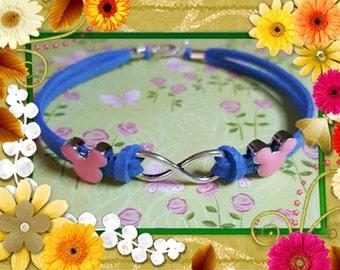 On Sale Minnie pink ears  and Infinity Bracelet