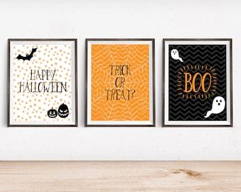 "Halloween Printable Art Prints - Instant Download - 4x6"" 5x7"" 8x10"" 8.5x11"" A4 11x14"""