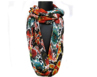 Infinity scarf/ loop scarf/ circle scarf/ tube scarf / multicolored scarf / cotton scarf scarf/  gift ideas.