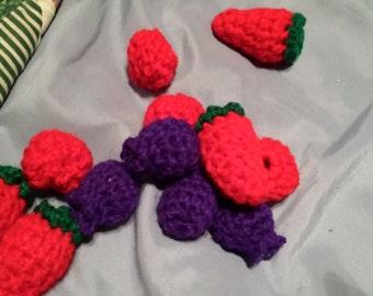 6 blueberries and raspberries